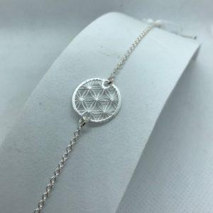 Bracelet argent b7- fleur de vie